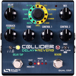 Source Audio Collider Delay and Reverb Pedal
