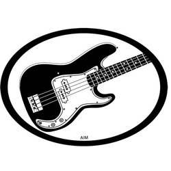 Electric Bass Oval Magnet