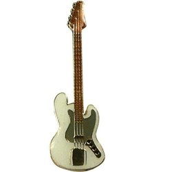 Electric Bass Pin - White