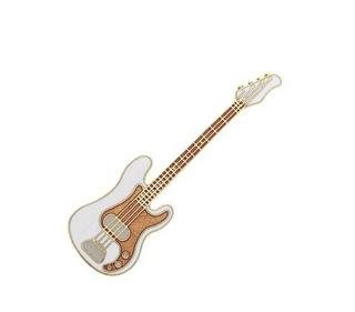 View larger image of Electric Bass Pin - White