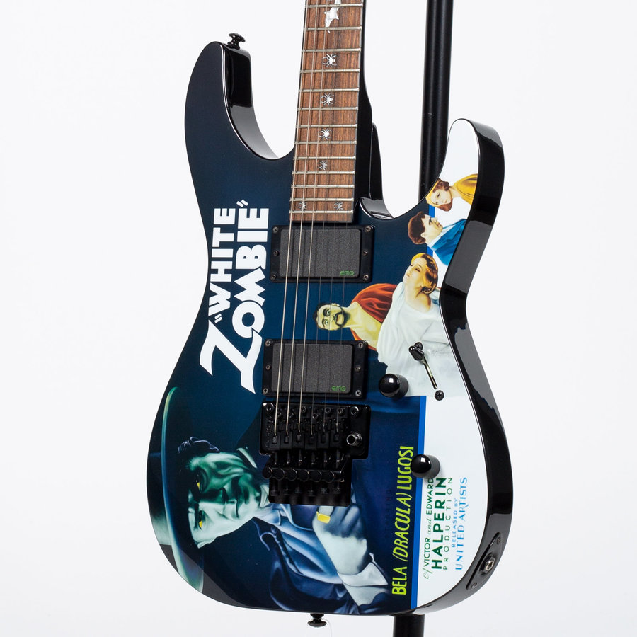 View larger image of ESP LTD Kirk Hammett Signature Series White Zombie Electric Guitar - Pre-Owned