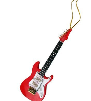View larger image of Electric Guitar Ornament - Red, 5