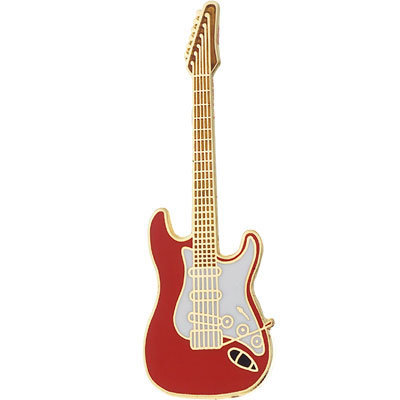 View larger image of Electric Guitar Pin - Red