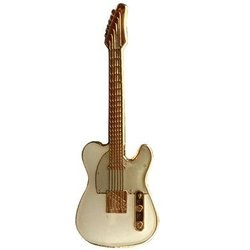 Electric Guitar Pin - White