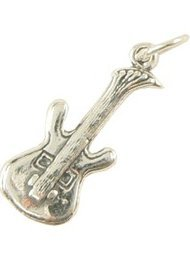 View larger image of Electric Guitar Silver Charm