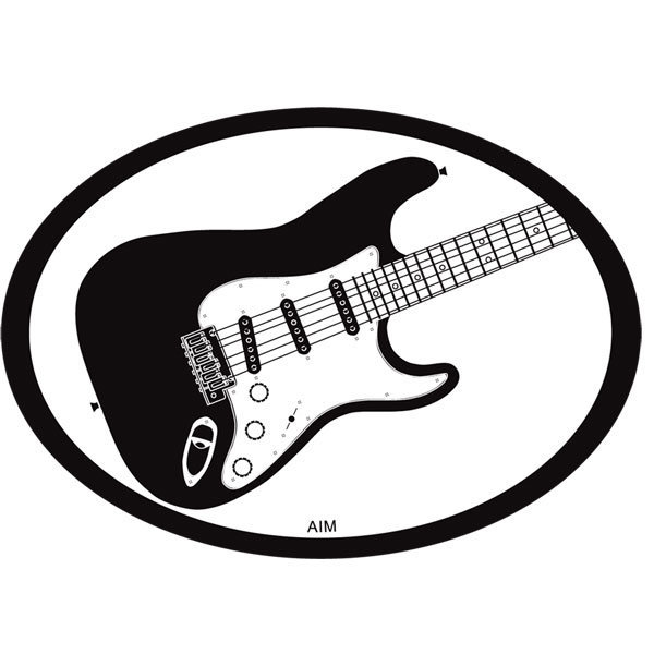 View larger image of Electric Strat Oval Magnet