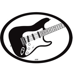 Electric Strat Oval Magnet