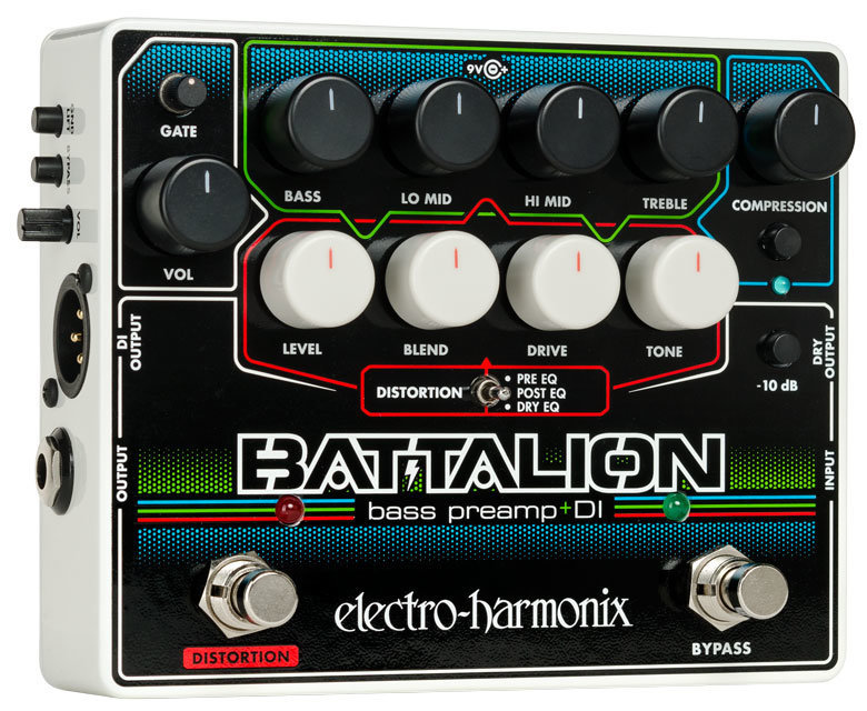 View larger image of Electro-Harmonix Battalion Bass Preamp and DI Pedal