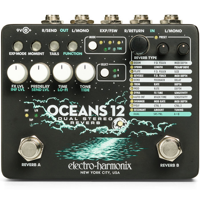 View larger image of Electro-Harmonix Oceans 12 Dual Stereo Reverb Pedal