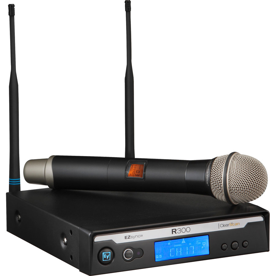 View larger image of Electro-Voice R300-HD Wireless Handheld Microphone System