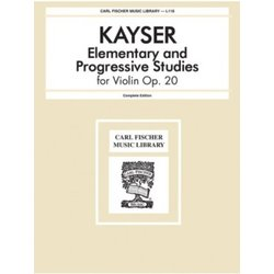 Elementary and Progressive Studies For Violin, Opus 20 (Kayser)
