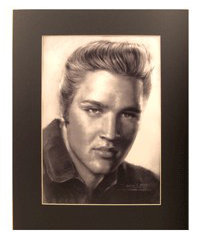 View larger image of Elvis Illustrated Music Poster
