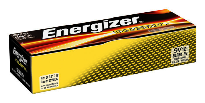 View larger image of Energizer EN-EN22 Industrial 9V Alkaline Batteries - 12 Pack
