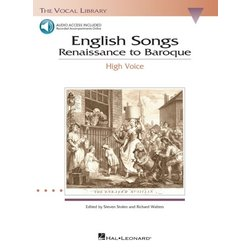 English Songs: Renaissance to Baroque - High Voice w/Online Audio