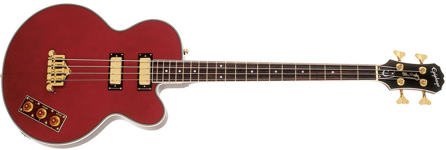 View larger image of Epiphone Allen Woody Rumblekat Bass - Wine Red
