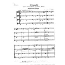 Episodes - Clarinet Quartet