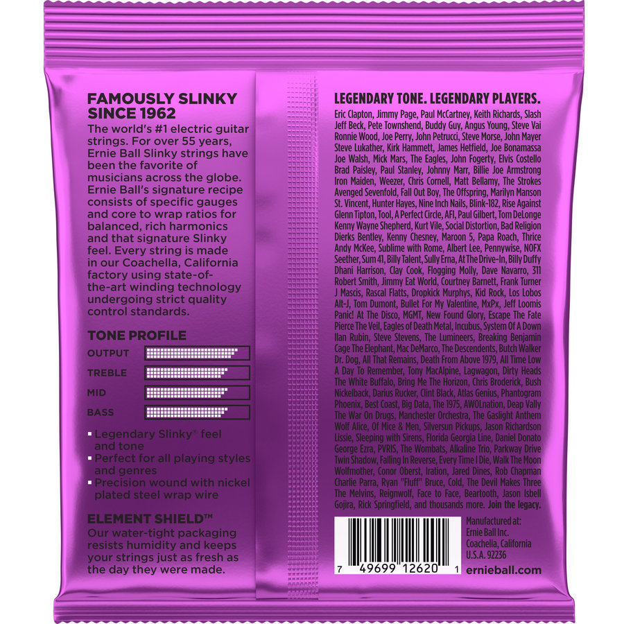 View larger image of Ernie Ball 7-String Power Slinky Nickel Wound Electric Guitar Strings - 11-58 Gauge