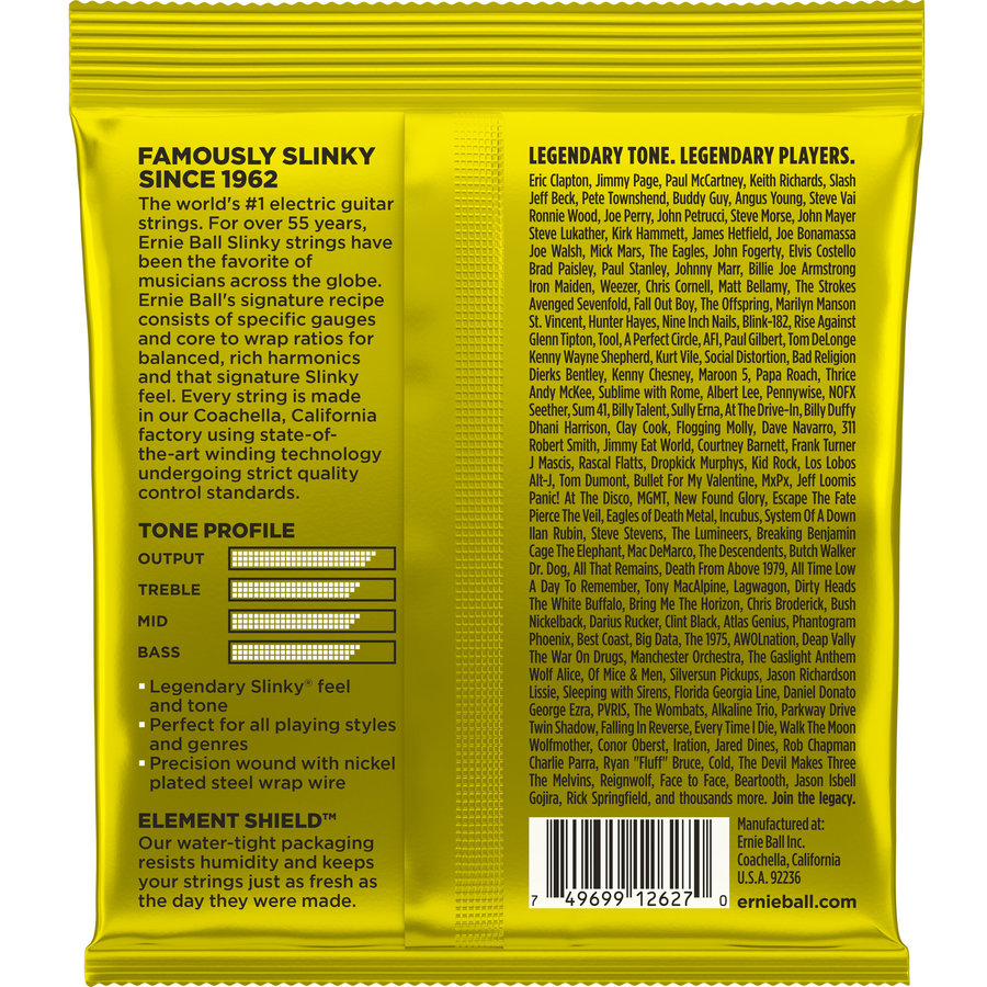 View larger image of Ernie Ball Beefy Slinky Nickel Wound Electric Guitar Strings - 11-54 Gauge