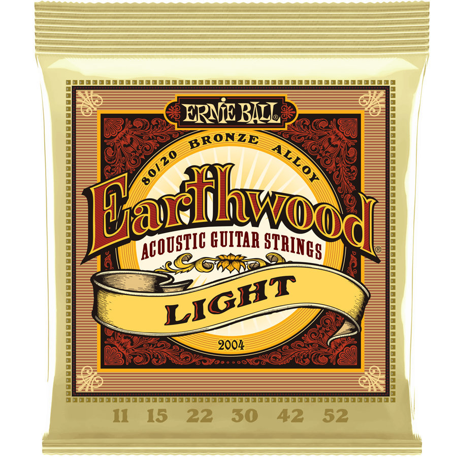 View larger image of Ernie Ball Earthwood 80/20 Bronze Acoustic Guitar Strings - Light, 11-52