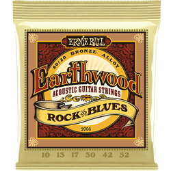 Ernie Ball Earthwood 80/20 Bronze Acoustic Guitar Strings - Rock and Blues, 10-52