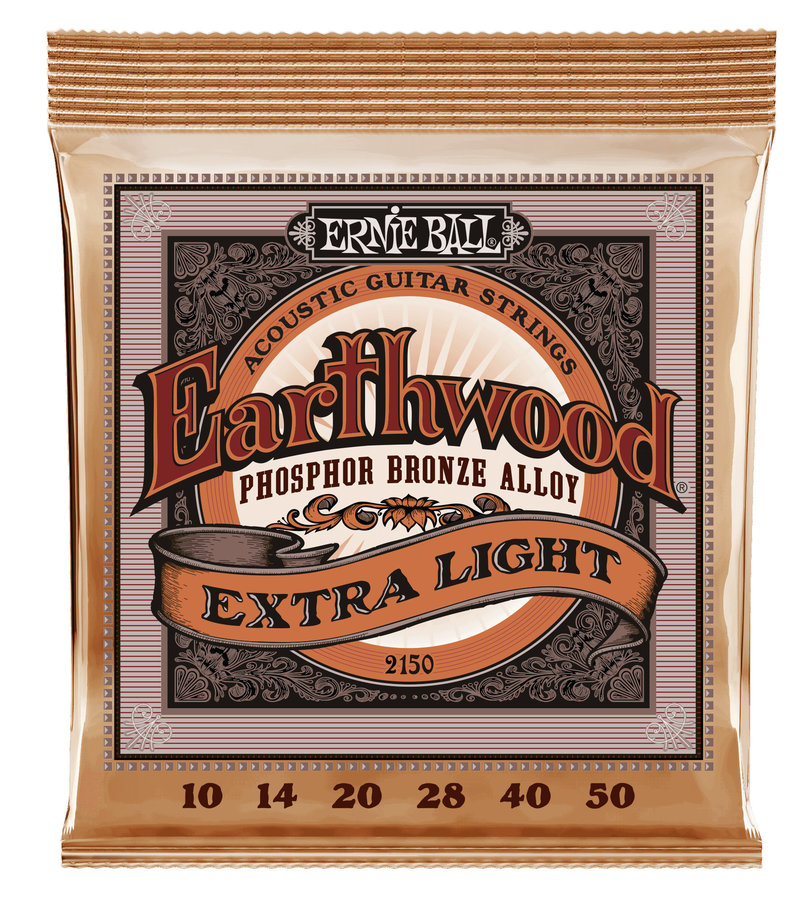 View larger image of Ernie Ball Earthwood Phosphor Bronze Acoustic Guitar Strings - Extra Light