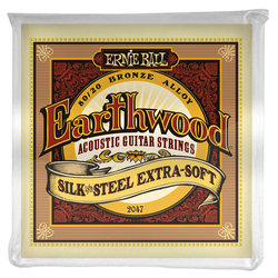 Ernie Ball Earthwood Silk and Steel 80/20 Bronze Acoustic Guitar Strings - Extra Soft