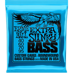 Ernie Ball Extra Slinky Nickel Wound Electric Bass Guitar Strings - 40-95 Gauge