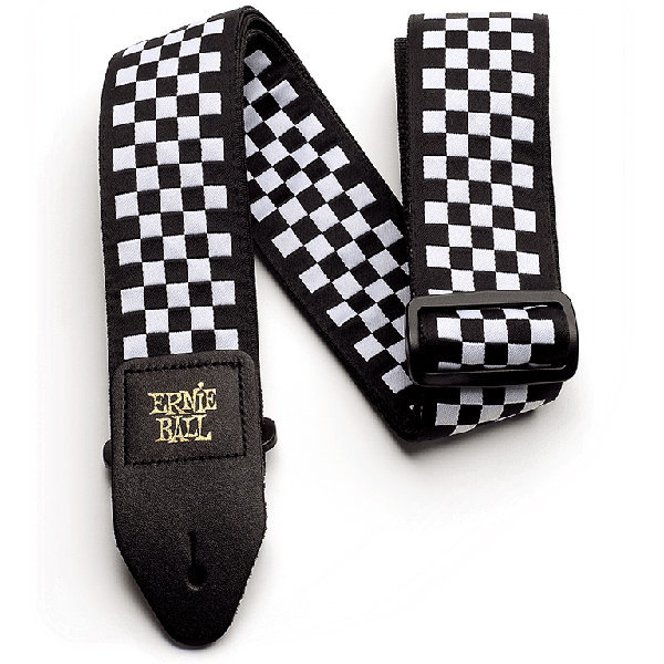 View larger image of Ernie Ball Jacquard Guitar Strap - 2, Black and White Checkers