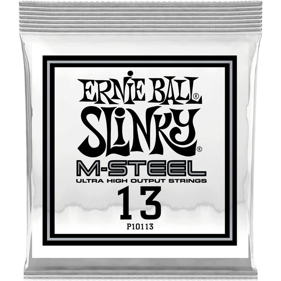 View larger image of Ernie Ball M-Steel Plain Acoustic or Electric Guitar Strings - .013