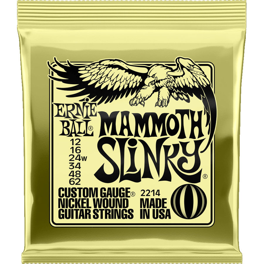 View larger image of Ernie Ball Mammoth Slinky Nickel Wound Electric Guitar Strings - 12-62