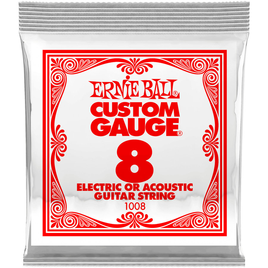 View larger image of Ernie Ball P01008 Plain Steel Electric or Acoustic Guitar Strings - 8