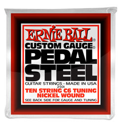 Ernie Ball P02501 Pedal Steel 10-String C6 Tuning Nickel Wound Electric Guitar Strings