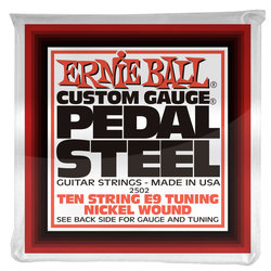 Ernie Ball P02502 Pedal Steel 10-String E9 Tuning Nickel Wound Electric Guitar Strings