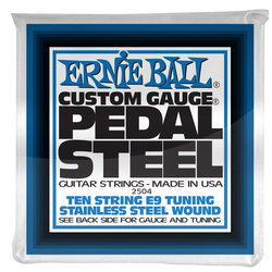 Ernie Ball P02504 Pedal Steel 10-String E9 Tuning Stainless Steel Wound Electric Guitar Strings