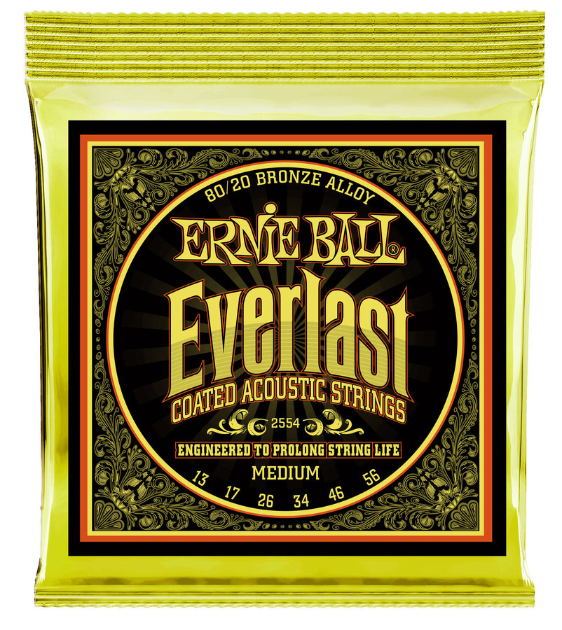 View larger image of Ernie Ball P02554 Everlast Coated 80/20 Bronze Acoustic Guitar Strings - Medium