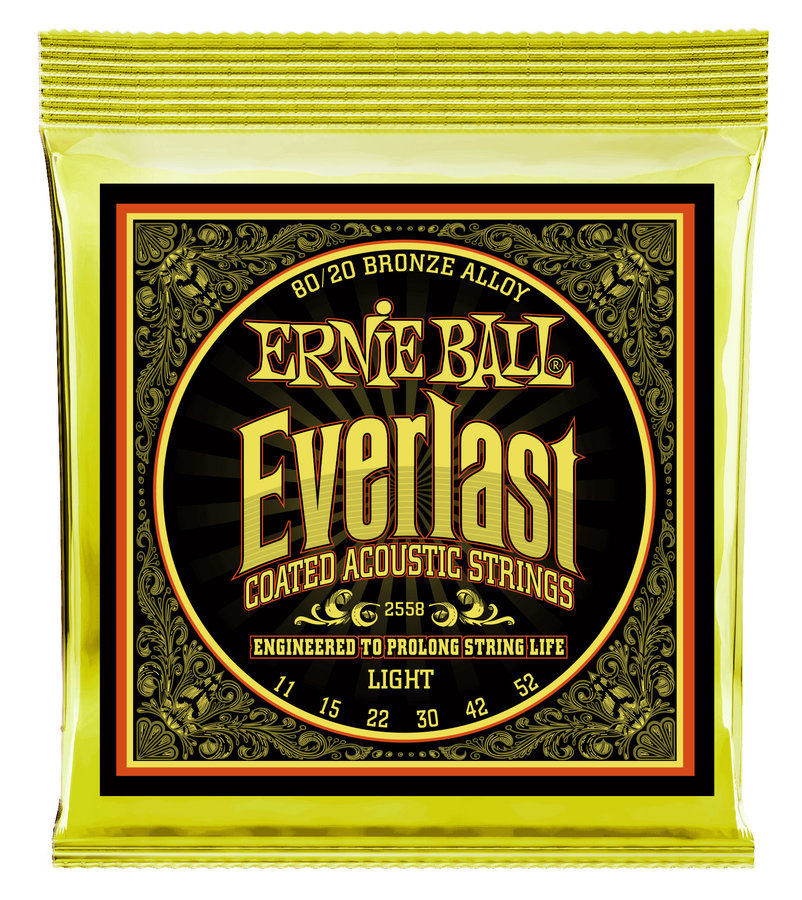 View larger image of Ernie Ball P02558 Everlast Coated 80/20 Bronze Acoustic Guitar Strings - Light