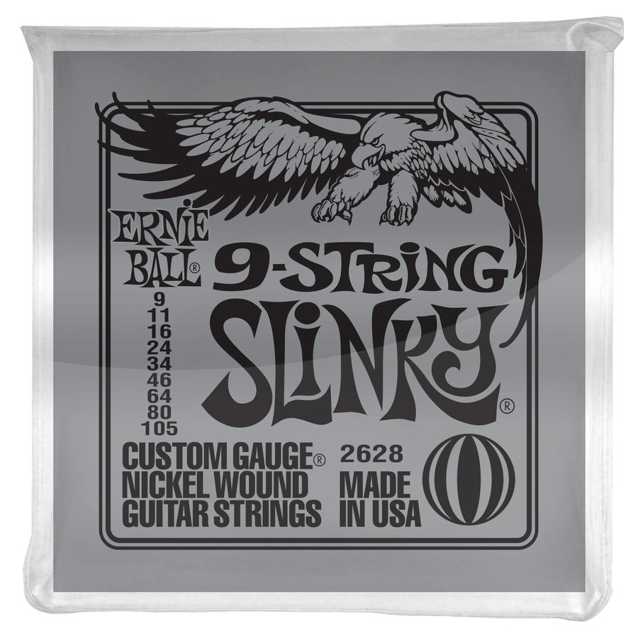 View larger image of Ernie Ball P02628 Slinky 9-String Nickel Wound Electric Guitar Strings