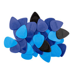 Ernie Ball P09133 Nylon Mixed Thickness Injection Molded Guitar Picks - Bag of 50