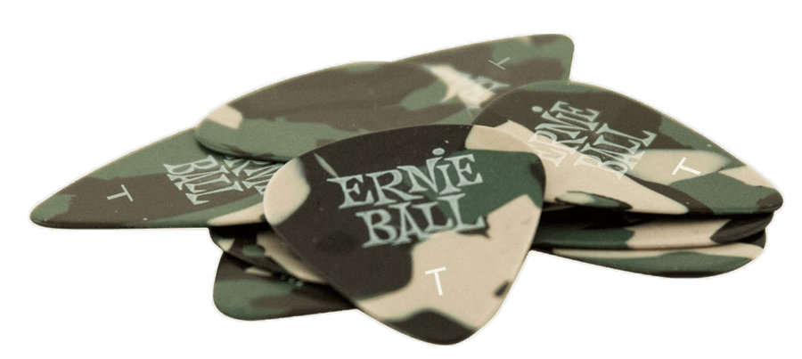 View larger image of Ernie Ball P09221 Speciality Thin Guitar Picks - Bag of 12, Camouflage