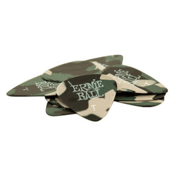 Ernie Ball P09221 Speciality Thin Guitar Picks - Bag of 12, Camouflage