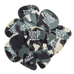 Ernie Ball P09223 Specialty Heavy Guitar Picks - Bag of 12, Camouflage