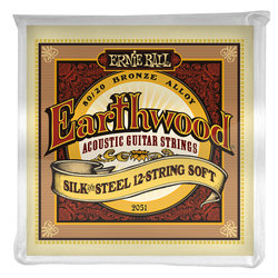 Ernie Ball PO2051 Earthwood Silk and Steel 12-String 80/20 Bronze Acoustic Guitar Strings - Soft
