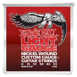 Ernie Ball PO2208 Electric Wound Guitar Strings with Wound G - Light