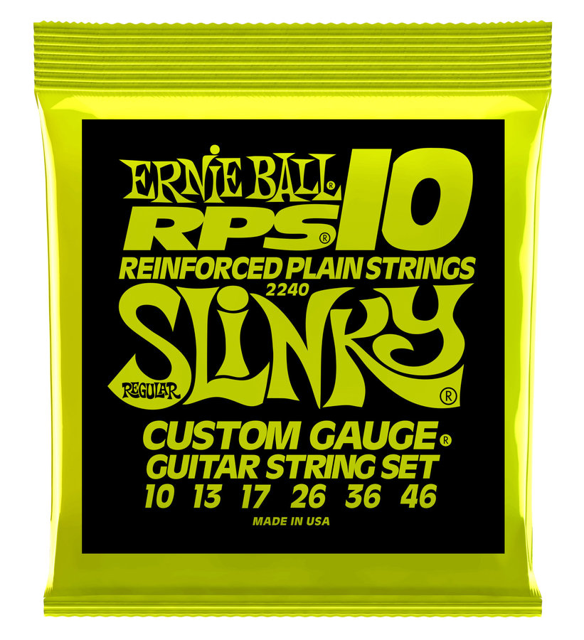 View larger image of Ernie Ball PO2240 Regular Slinky RPS Nickel Wound Electric Guitar Strings