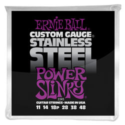 Ernie Ball PO2245 Power Slinky Stainless Steel Wound Electric Guitar Strings