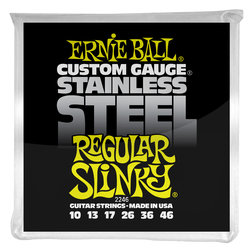 Ernie Ball PO2246 Regular Slinky Stainless Steel Wound Electric Guitar Strings