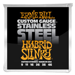 Ernie Ball PO2247 Hybrid Slinky Stainless Steel Wound Electric Guitar Strings