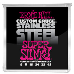 Ernie Ball PO2248 Super Slinky Stainless Steel Wound Electric Guitar Strings