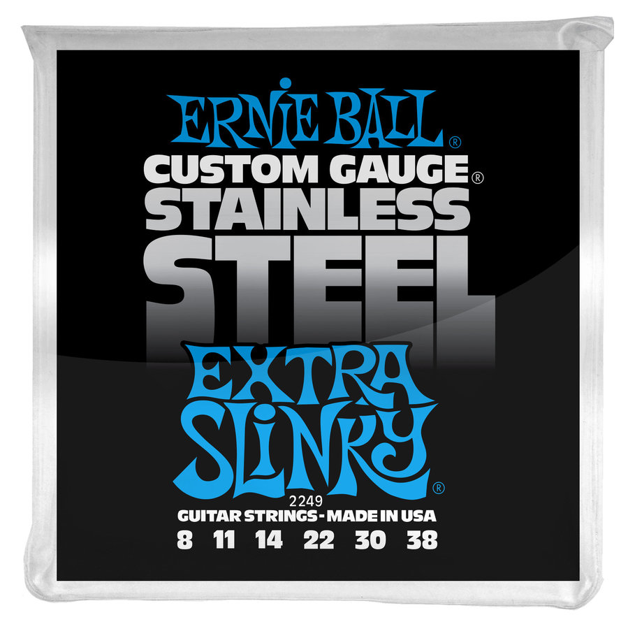 View larger image of Ernie Ball PO2249 Extra Slinky Stainless Steel Wound Electric Guitar Strings