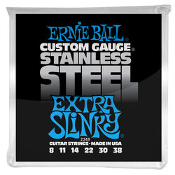 Ernie Ball PO2249 Extra Slinky Stainless Steel Wound Electric Guitar Strings